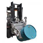 Hydraulic Forklift 55 Ggallon Drum Clamp ສຳ ລັບ Forklifts